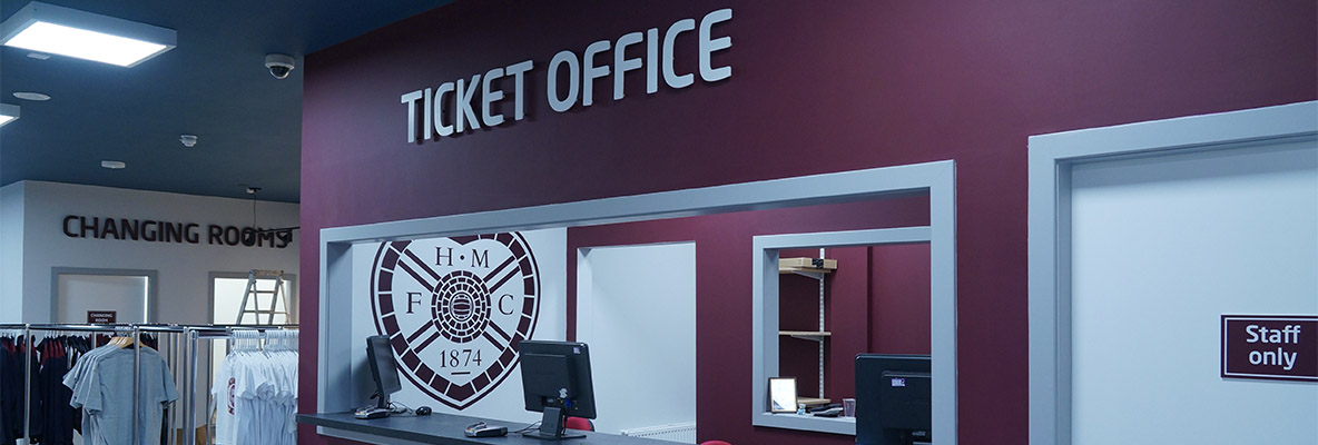 Clubstore & Ticket Office closed Saturday