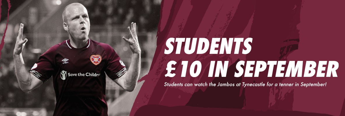 £10 for students at Tynecastle