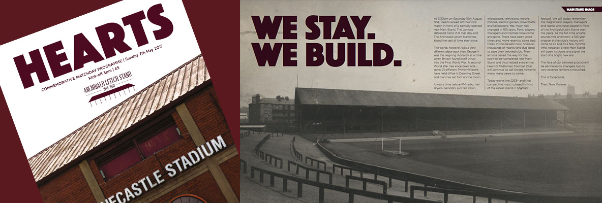 Commemorative Main Stand Programme re-print