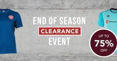 End of Season Clearance!