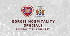 Gorgie Hospitality Specials: Hearts v Kilmarnock