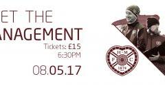 An evening with the Hearts management team